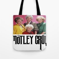 golden girls Tote Bags featuring Golden Girls! Girls! Girls! by hellosailortees