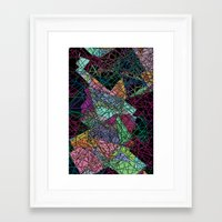 maps Framed Art Prints featuring Maps by Hipsterdirtbag