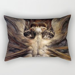 The Great Red Dragon and the Woman Clothed in Sun William Blake Rectangular Pillow