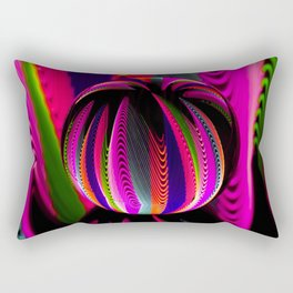 Variation of colours in the glass ball. Rectangular Pillow
