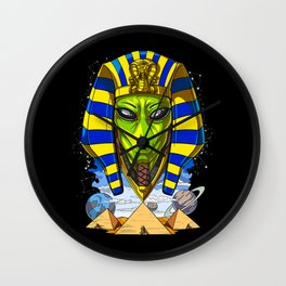 Alien Egyptian Pharaoh Tutankhamun Ancient Conspiracy Wall Clock