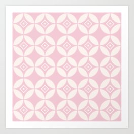 Kawung Pink (Batik) Art Print