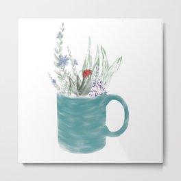 Garden in a Mug Metal Print