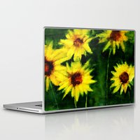 daisies Laptop & iPad Skins featuring daisies by agnes Trachet