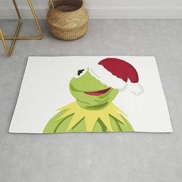 Santa Kermit - The Optimistic Christmas Frog Rug