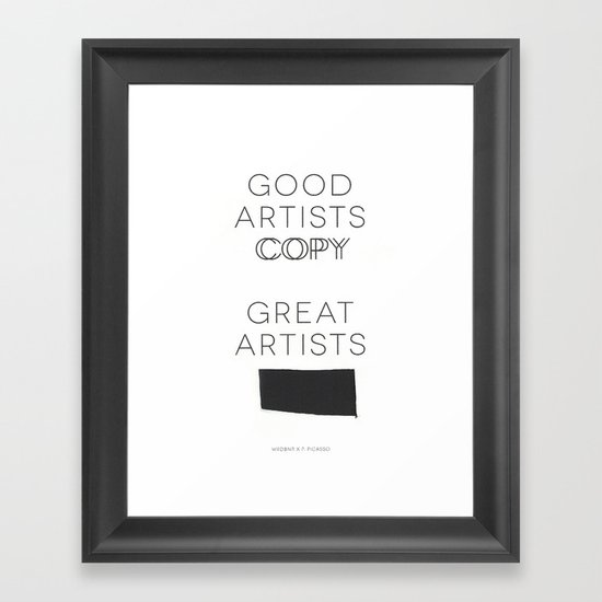Steal Framed Art Print