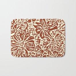 Marigold Lino Cut, Sepia Bath Mat