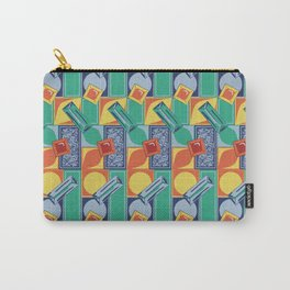 90s Jewel Primary Geometric Pattern Carry-All Pouch
