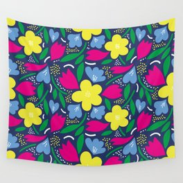 Floral Festival Wall Tapestry