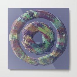 Modern Sticks Mandala Metal Print