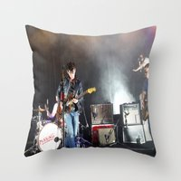 arctic monkeys Throw Pillows featuring Arctic Monkeys in Brooklyn, New York by The Electric Blue / Yen-Hsiang Liang (Gr