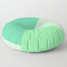 Green Trinity Geometric Floor Pillow