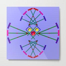 Croquet - Mallets,Balls and Hoops Design Metal Print
