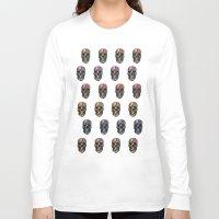 skulls Long Sleeve T-shirts featuring skulls by Nastya Bo