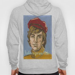 Vintage Paint By Number PBN Hipster Hater Hoody