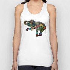 asian elephant white Unisex Tank Top