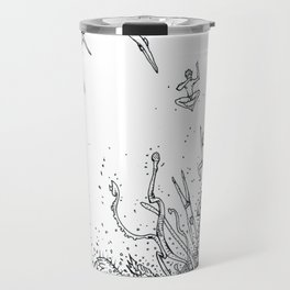 DIVING INTO THE MOUTH OF THE SEA BEAST Travel Mug