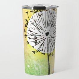 Watercolor Dandelion - Make a wish Travel Mug