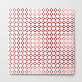 Red oriental pattern - seamless orient design Metal Print