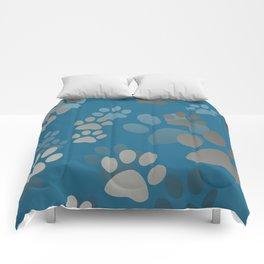 Footprint Animal turquoise Comforters