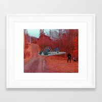 nausicaa Framed Art Prints featuring Nausicaa & the Ohmu (Nausicaa of the valley of the wind) (Burnsville NC) by Jackobi Austin