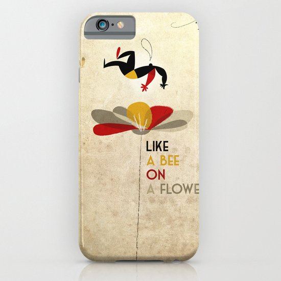 Like a bee on a flower iPhone & iPod Case