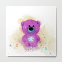 Flo Bear  (home decor) Metal Print