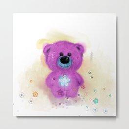 Flo Bear  (home decor) Metal Print