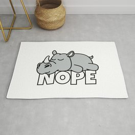 Lazy Rhino Rug