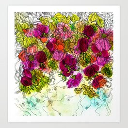 Dog-Rose. Autumn. Art Print