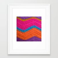 60s Framed Art Prints featuring 60s Colours by Wild Daffodil