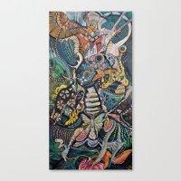 phoenix Canvas Prints featuring Phoenix by Dawn Patel Art