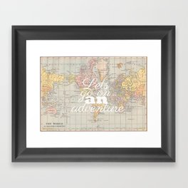 Lets Go On An Adventure  Framed Art Print