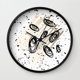 The Visitors - Black White and Gold Wall Clock