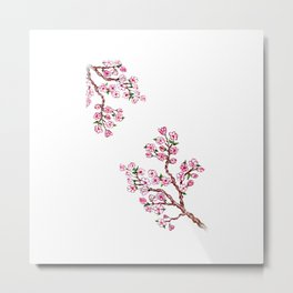 Sakura Branch Painting Metal Print