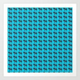 Blue Zebra Design Art Print