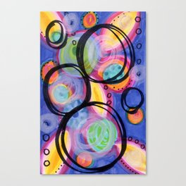 Colorful & Bold Circle Doodle Canvas Print