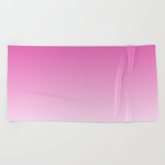 Simply girly pink color gradient - Mix and Match with Simplicity of Life Beach Towel