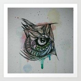 Semi-OWL Art Print