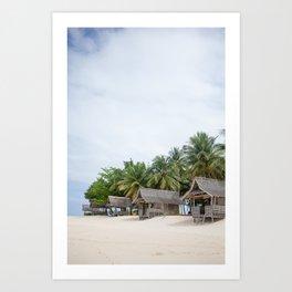 Huts on Siargao Island Art Print
