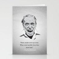 bukowski Stationery Cards featuring Bukowski by MSB Art!