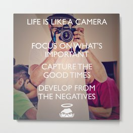 Life is like a Camera! Metal Print