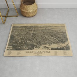 Vintage Knoxville TN Map (1886) Rug