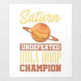 Hula Hoop Champion Geschenk Art Print