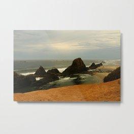 Otter Rock Beach Metal Print