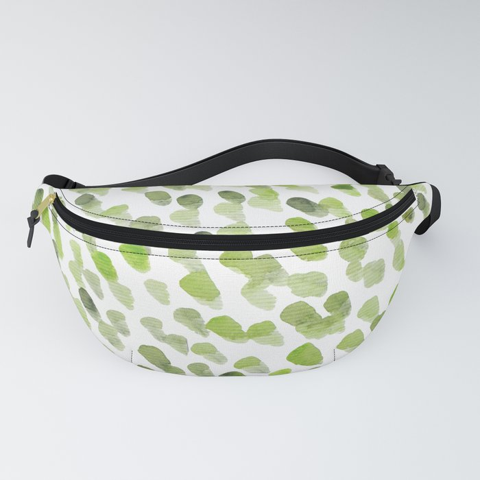 Imperfect brush strokes - olive green Fanny Pack