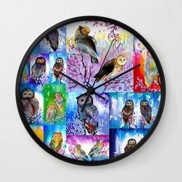 abstract owls Wall Clock
