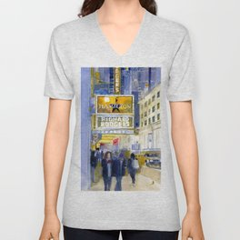 Richard Rodgers - NYC - Broadway - Theater District Unisex V-Neck