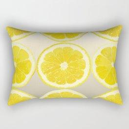 Lemon Slice Collage Juicy Fruit Rectangular Pillow