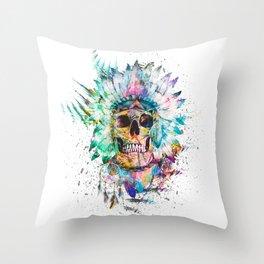 SKULL - WILD SPRIT Throw Pillow